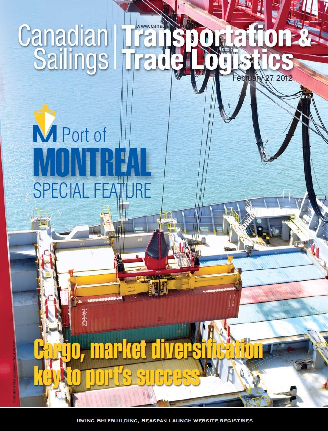 Canadian Sailings Issue, Feb 27 2012