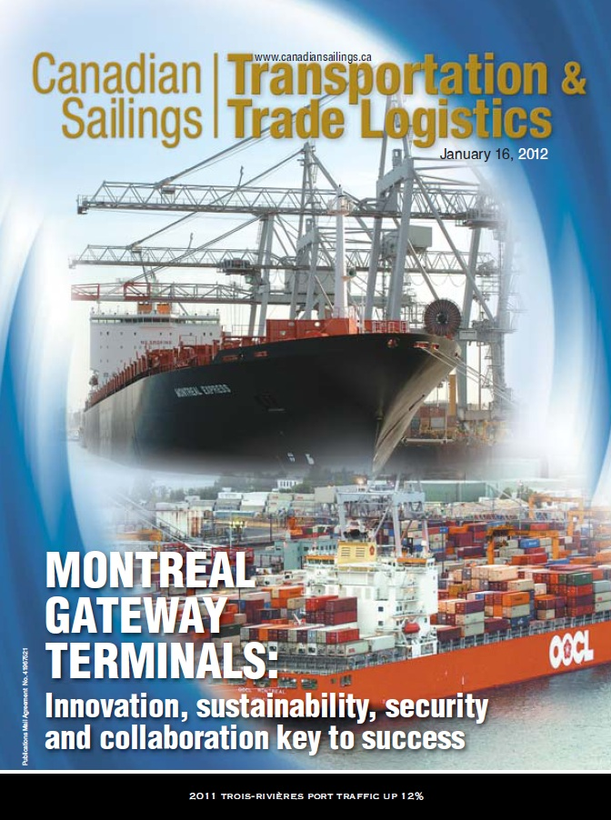 Canadian Sailings Issue, Jan 16 2012