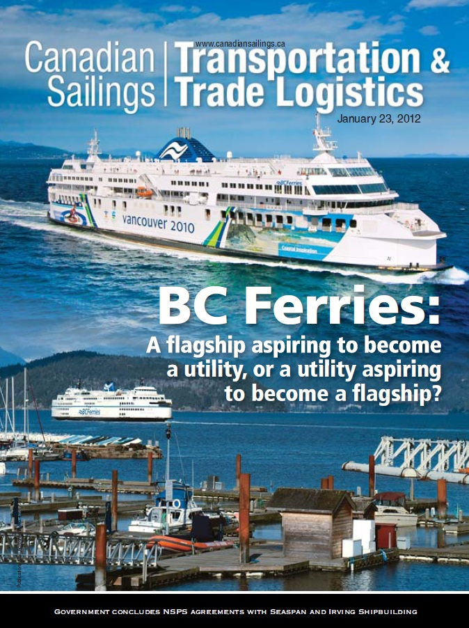 Canadian Sailings Issue, Jan 23 2012