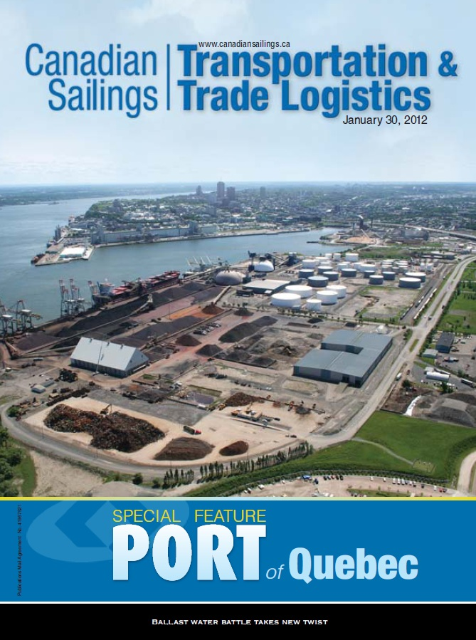 Canadian Sailings Issue, Jan 30 2012