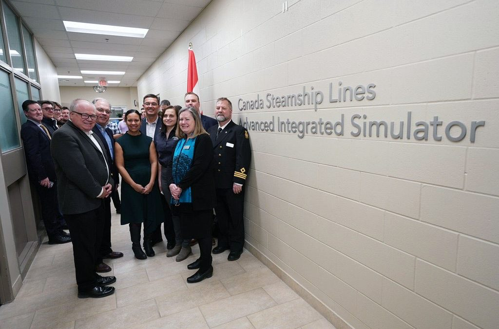 New marine simulator unveiled at Georgian College's Owen Sound Campus thanks to $540,000 donation from Canada Steamship Lines