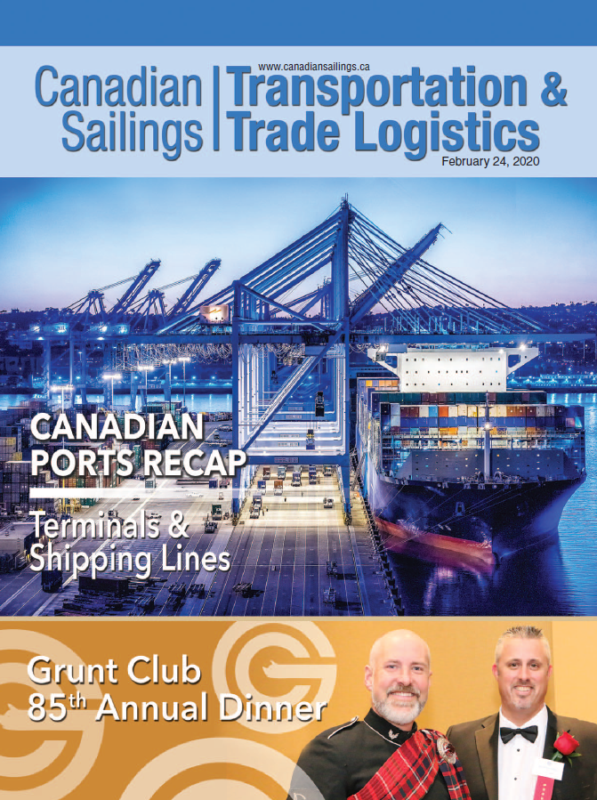 Canadian Sailings Magazine February 2020 cover