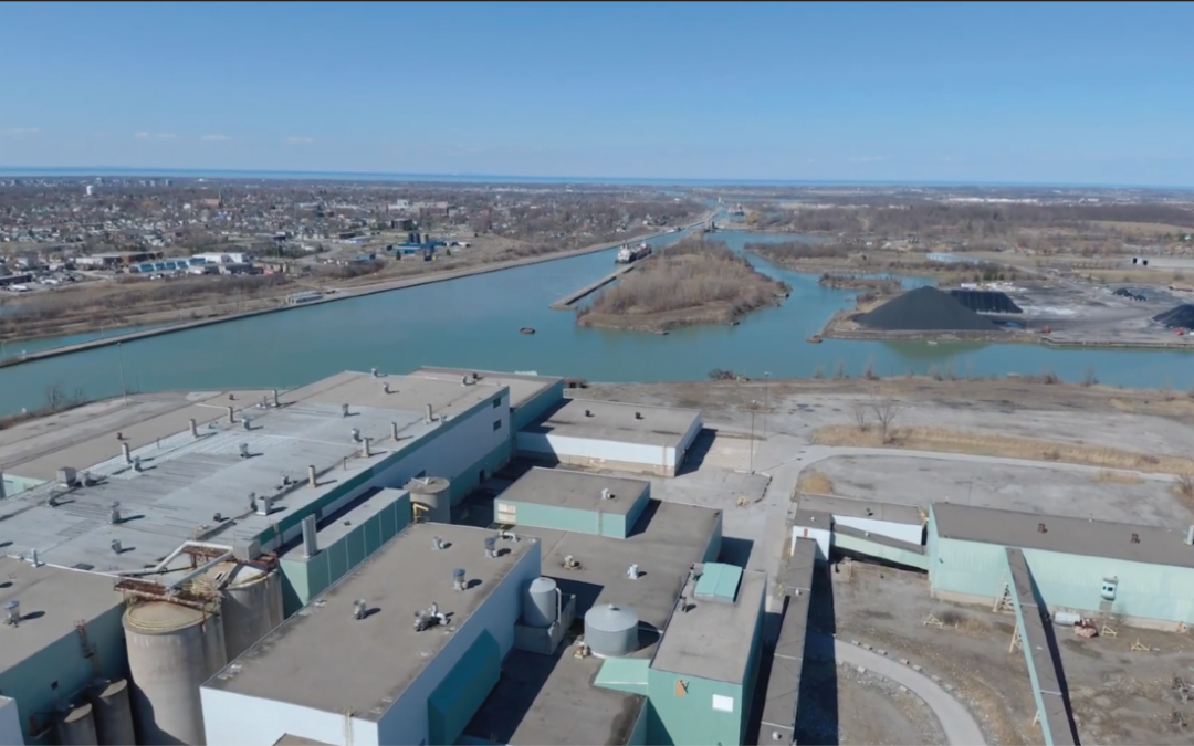 Industrial developments along the Welland Canal are taking shape